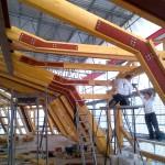 Dachstuhl-Stahlarbeiten